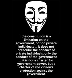 And the government is in the process of taking more and more power for themselves...stand for your rights or lose them.