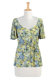 Citrus blossoms top, so cute and retro-looking!