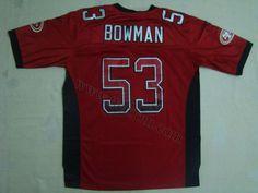 7bc22fa4a San Francisco 49ers  53 NaVorro Bowman Drift Fashion Red Jersey