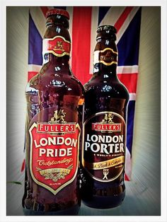 Our two latest additions.. London Porter & London Pride Craft Ales from Fuller's!
