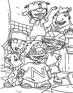 27 best rocket power coloring pages images on pinterest rocket