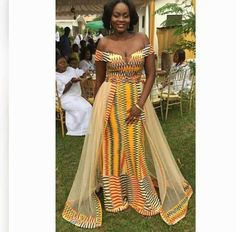 60 Beautiful Kente styles to try - Ankara Lovers African Wedding Attire, African Attire, African Wear, African Women, African Dress, Ghana Wedding Dress, African Traditional Wedding Dress, Traditional Dresses, Traditional Weddings