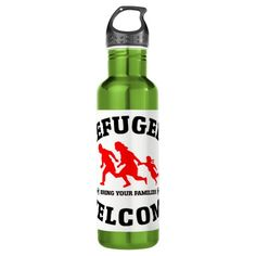 Refugees Welcome Bring Your Family 24oz Water Bottles #refugees #refugeeswelcome #refugeecrisis