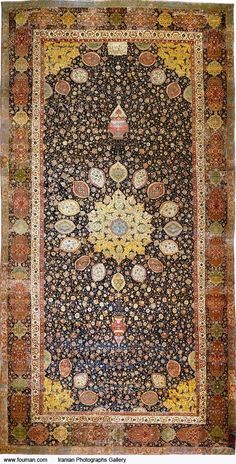 Islamic art - Wikipedia, the free encyclopedia. The Ardabil Carpet ;probably the finest surviving Persian carpet, Tabriz mid century. Persian Carpet, Persian Rug, Iranian Rugs, Iranian Art, Magic Carpet, Victoria And Albert Museum, Living Room Carpet, Modern Carpet, Carpet Design