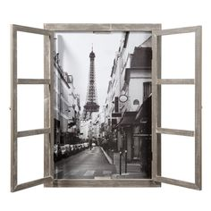 PARIS wooden window picture 57 x