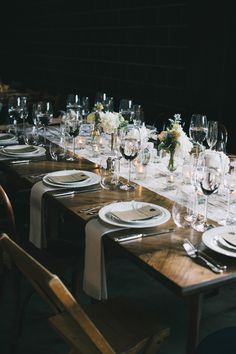 industrial tablescape - photo by The Hearts Haven http://ruffledblog.com/pastel-glam-wedding-at-las-smogshoppe #tablescapes #weddingideas #receptions