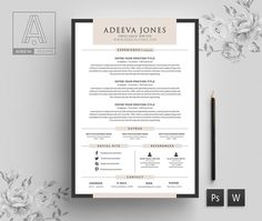 Welcome to the Adeeva Resume! We designed resume template to get you notice! Help you stand out from the crowd and leave a lasting impression when applying for your dream career. We created using elegance with a modern twist and easy to read. Cover Letter Template, Letter Templates, Resume Templates, Cv Simple, Resume No Experience, Modern Cv Template, Creative Cv, Microsoft Word 2007, Free Icon Packs
