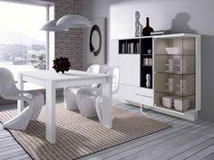 #Comedor | Diseños minimalistas en los que predominan los contrastes entre la luz y la sombra entre la madera y el vidrio.