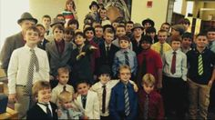 They rallied behind Danny by all coming to school dawning suits and ties. | How These  5th Grade Football Players Responded To Their Waterboy Being Bullied Will Move You To Tears