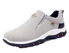 Matari Mens PU Leather Outdoor Climbing Hiking Sports Slip On Shoes 10 BM Grey -- Click image for more details.