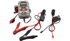 NOCO Genius G750 6V/12V 750mA Fully Automatic Battery Charger and Maintainer (Grey) by NOCO. $29.95. Amazon.com                 Keep your vehicle batteries charged and maintained with ease using the NOCO G750. This fully automatic charger is designed to be used with small batteries, from 1.2Ah to 30Ah, such as those found in motorcycles, ATVs, jet skis, and snowmobiles. It can also effectively maintain 6V or 12V batteries in larger vehicles like cars, trucks, boats,...