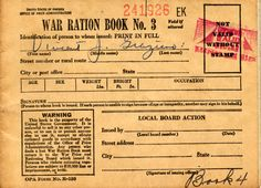 Identification page from a World War II-era ration book issued to North Hollywood resident Vincent J. Graziano, circa early 1940s. When nationwide food rationing was instituted in 1942, the US Office of Price Administration produced booklets containing ration stamps that were handed out to every person in order to control the use and distribution of dairy products and other staples. San Fernando Valley History Digital Library.