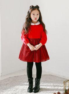 상품 섬네일 Little Girl Fashion, Kids Fashion, Toddler Outfits, Kids Outfits, Stylish Toddler Girl, Girl G, 90s Outfit, Baby Girl Dresses, Winter Dresses