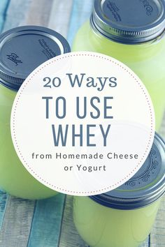 20 Ways to Use Whey (from making cheese or yogurt) (whole 30 instant pot products) Whey Recipes, Goat Milk Recipes, Cheese Recipes, Dairy Recipes, Recipies, Frugal Recipes, Savoury Recipes, Homemade Yogurt, Homemade Cheese