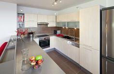 Sestava ve tvaru U usnadňuje majitelům práci v kuchyni.