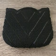 """Vintage beaded black clutch Used, perfect condition. Stunning and elegant vintage beaded black clutch, size: approx. 8""""x6"""". Thank you for visiting my closet, please let me know if you have any questions. I offer great discounts on bundles  Bags Clutches & Wristlets"""