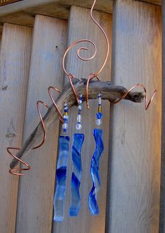 Pattern Fused Glass Wind Chimes   Melting... Glass:: fused and melted glass, melted bottle cheese ...