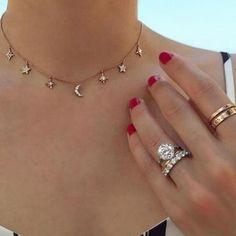 8da27925bc9c 1 Pc Newest Fashion Choker Necklace Star Moon Pendant Chain Goldenintothea  Últimas Tendencias