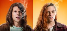 Adventureland stars Jesse Eisenberg and Kristen Stewart reunite in the stoner action comedy American Ultra. Check out two character posters: