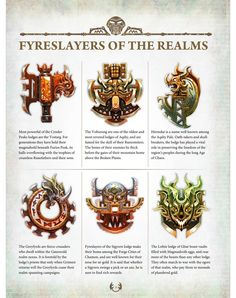 Come feast your eyes on some upcoming new minis and amazing artwork revealed within Battletome Fyreslayer.