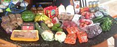 How to feed a family of 5 on just $500/mo in (healthy) groceries...including diapers, toiletries, dog food, and everything in-between. #groceries #cooking #budget