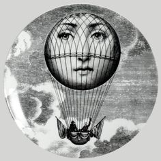 "Plate 93 from Piero Fornasetti's ""Theme and Variations"" series"