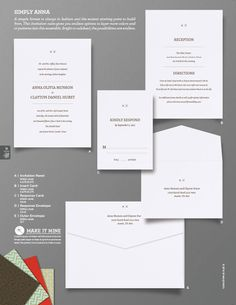 """Simply Anna"" Wedding Invitation From Envelopments"