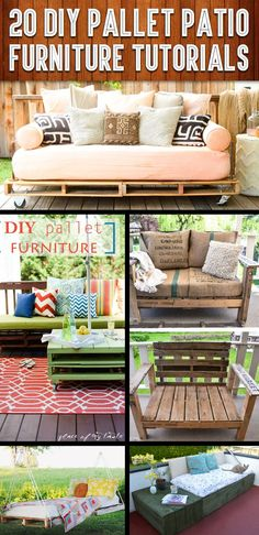 20 DIY Pallet Patio Furniture Tutorials For A Chic And Practical Outdoor Patio!