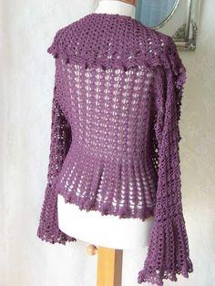 Crochet pattern, plus size shrug, PDF | Berniolie - Patterns on ArtFire
