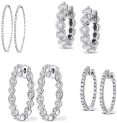 Sexy Sleek & HOT Diamond Hoop Earrings!! Check out 3 HEARTS BOUTIQUE on: web, Facebook, Twitter, & Instagram