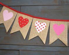 Día de San Valentín foto Prop arpillera Pennant bandera con