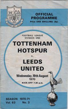 Vintage Football (soccer) Programme - Tottenham Hotspur v Leeds United, 1970/71 season, by DakotabooVintage