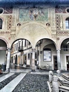 Piazza Ducale. Vigevano. Italy. Travel. Italian small city.