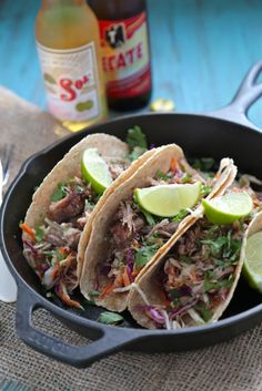 5 Spice Asian Pork Tacos - www.countrycleaver.com Low Carb, Slow Cooker Tacos with Spicy Chinese 5 Spice #fitfriday