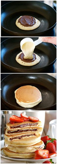The 22 Best Breakfast to Start Your Day Dessert Sushi, Best Breakfast, Breakfast Recipes, Dessert Recipes, Crepes Party, Nutella Pancakes, Delicious Desserts, Yummy Food, Snacks Saludables