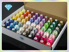 Бесплатная доставка высокое качество 61 цветов Брат машинная вышивка резьба…