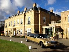 www.goldlimo.co.uk 01268 754 985 the UK's 1st stretch Gold Limousine at Orsett Hall.