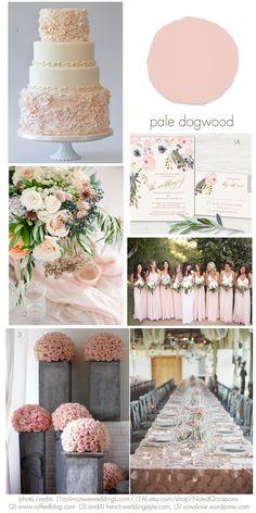 Pale Dogwood wedding inspiration ideas