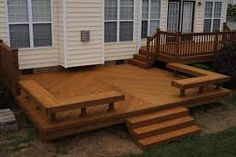 Image result for built in seating on decks