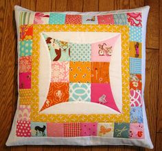 Quilting Barbie: Finished Pillow