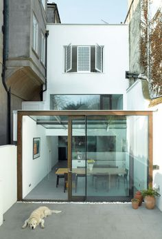 Refurbishment and extension of 100 year old house in Richmond, England by David Mikhail Architects