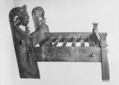 Replica of the big bed in the Oseberg find Museum photo