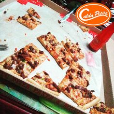 Who's craving for a #hotandspicy slice to drive away rainy day blues?