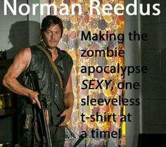 Norman Reedus making the zombie apocalypse sexy.