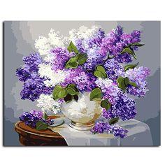 [Visit to Buy] diy diamond painting flowers lavender diamond mosaic flowers cross stitch painting rhinestones diamond painting bloemen Mosaic Flowers, Flower Vases, Flower Art, Flower Arrangements, Butterfly Mosaic, Flower Frame, Lavender Flowers, Purple Flowers, Purple Lilac