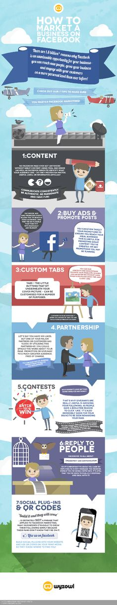 How to market a business on Facebook #socialmedia #infographic