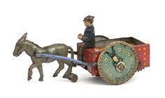 Lehmann Toys Horse/Cart, West.Germany