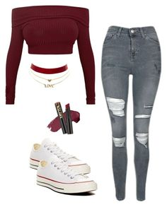 """""""Untitled #162"""" by brodriguez8104 on Polyvore featuring Topshop, L.A. Girl, Charlotte Russe and Converse"""