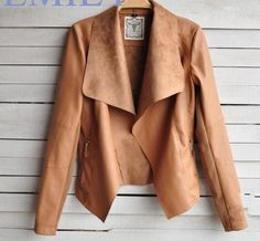 coat holder Picture - More Detailed Picture about 2015 Women Jacket New Spring Fashion Ultrathin Lapel Neck Motorcycle PU Leather Jacket Coat chaquetas Jaqueta De Couro Feminina Picture in Basic Jackets from A forever fairness Official Store Coats For Women, Jackets For Women, Clothes For Women, New Fashion, Autumn Fashion, Fashion Women, Fashion Coat, Fashion Vintage, Fashion Online