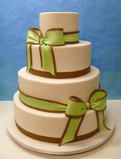 Wedding Bows Cake